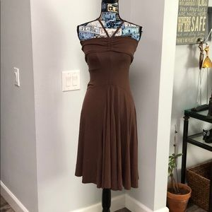 BCBG dark mocha dress , size xs small
